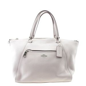 Coach Prairie Pink Solid Leather Tote 167665